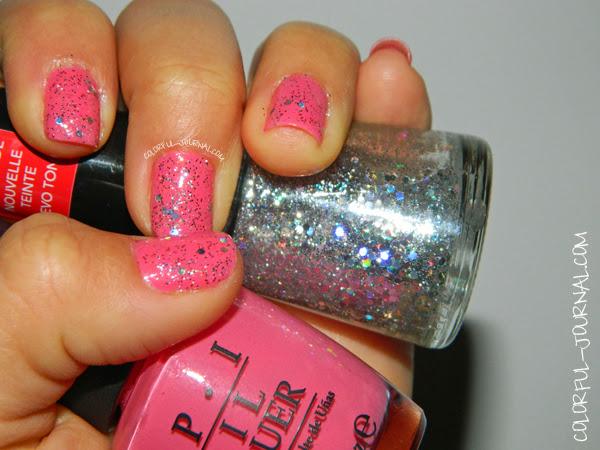 revlon opi manicure nailpolish elephantastic pink stunning glitter
