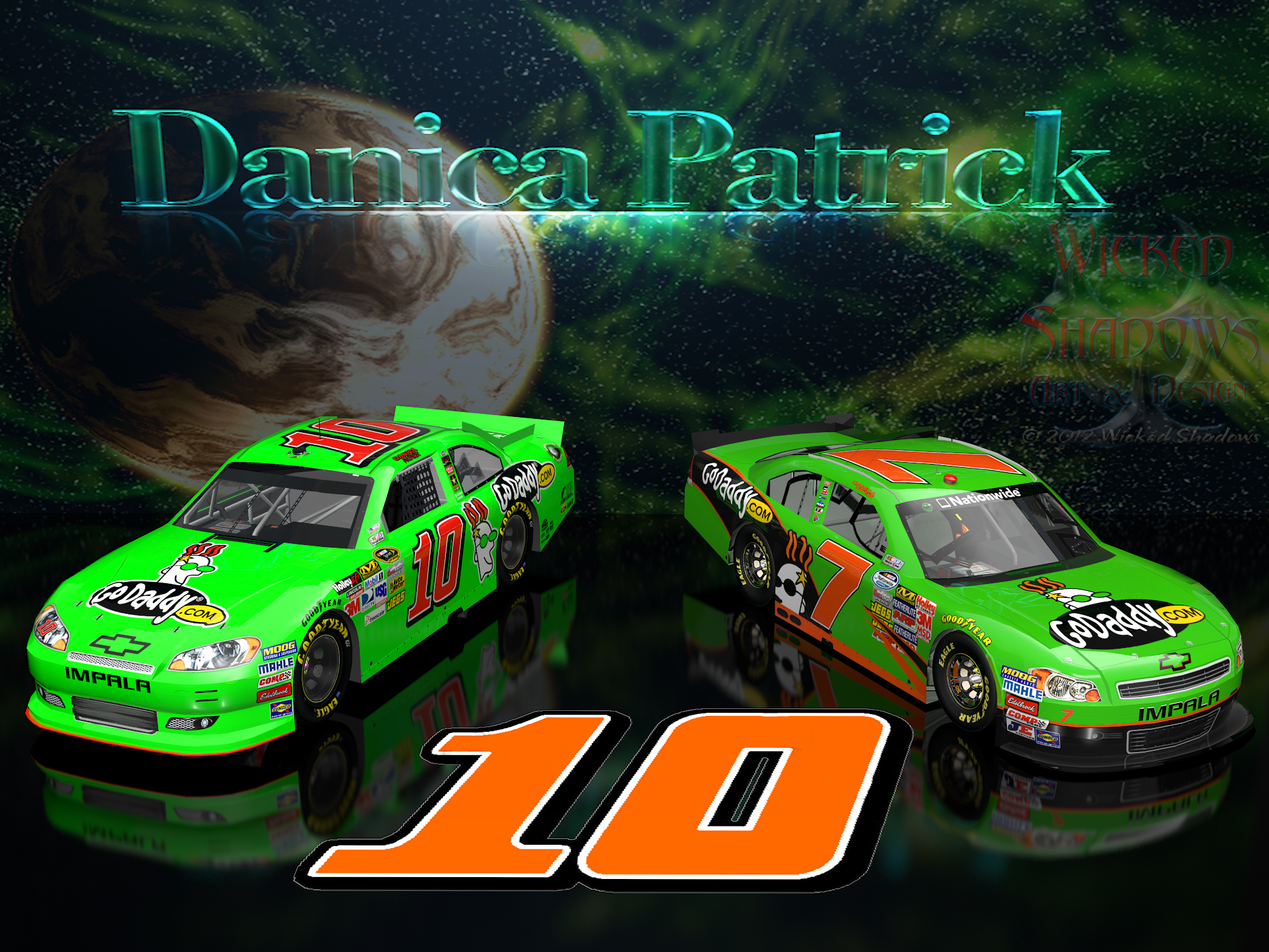 Wallpapers By Wicked Shadows Danica Patrick Dale: Wallpapers By Wicked Shadows: Danica Patrick NNS And Cup