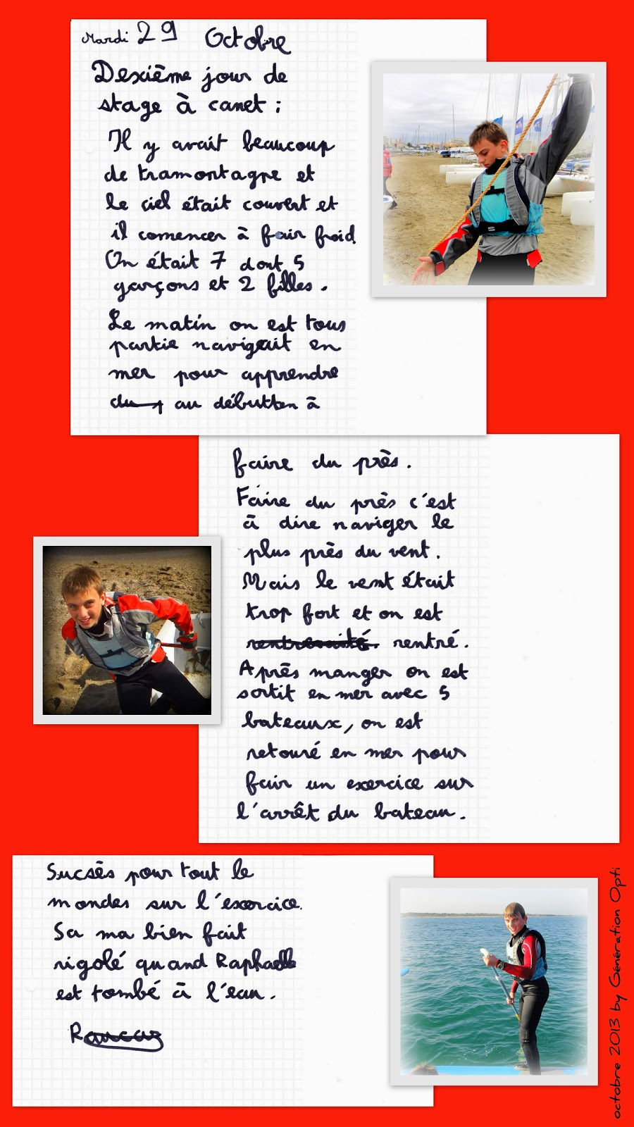 Voile Optimist stage sportif Canet-en-Roussillon 66 Po pyrénées_orientales toussaint_2013