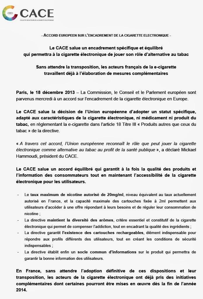 UE: Comuniqué de presse sur le texte définitif, qui sera soumis au Vote Noname