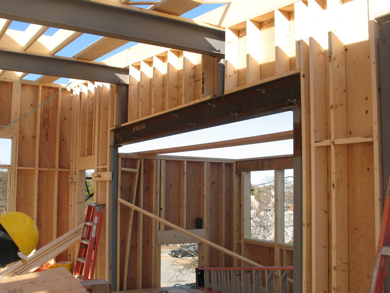 Net Zero Energy Cape Cod Roof Framing Continues