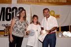 La intendente de Cinco Saltos entregó el premio al 1º puesto de Optimist.