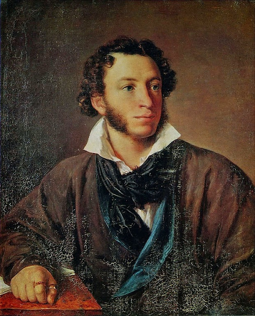 Vasily Tropinin - Portrait of Alexander Pushkin. 1827