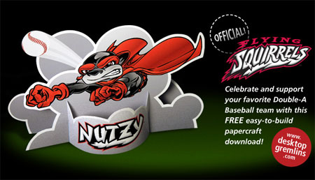 Nutzy the Flying Squirrel Papercraft