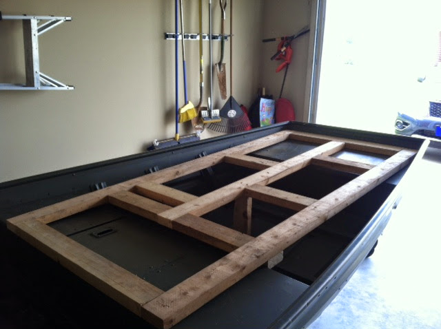 My first mod - Alumacraft 1442 Deck install - TinBoats net