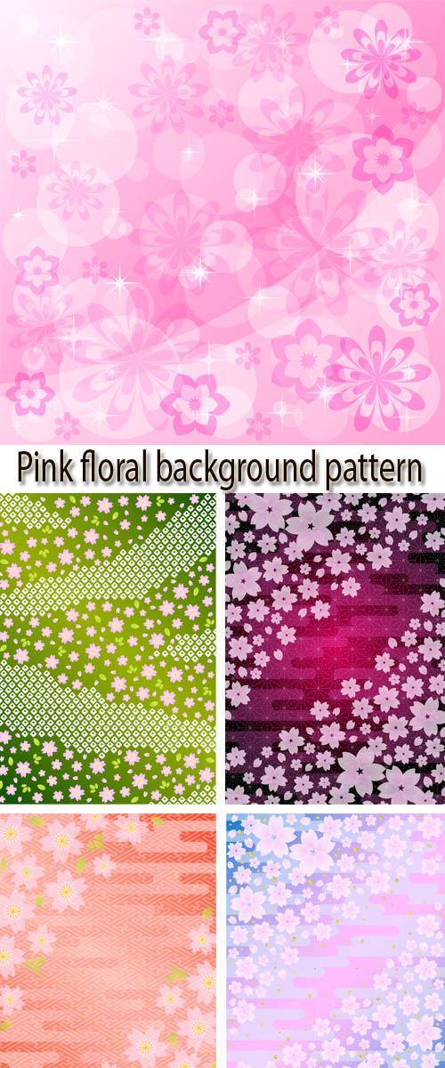 Stock: Pink floral background pattern 5