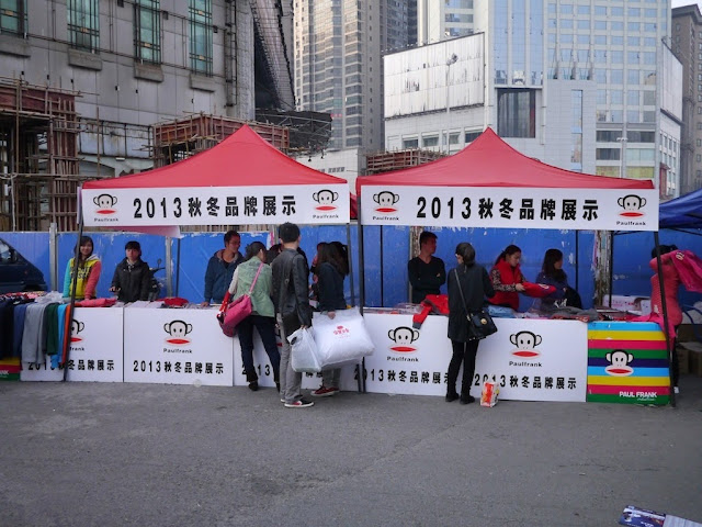 an outdoor Paul Frank sale in Changsha