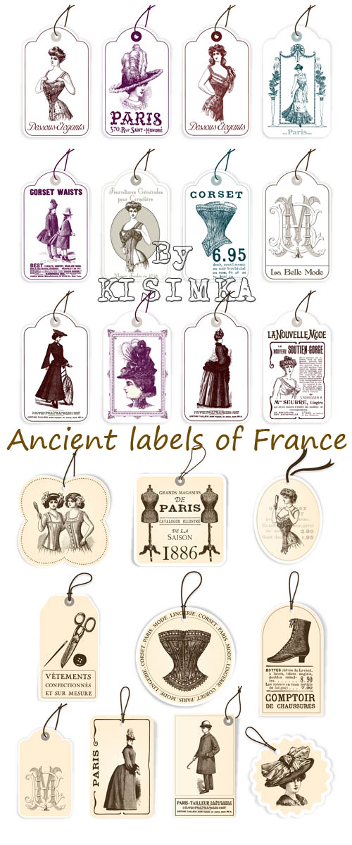 Stock: Ancient labels of France