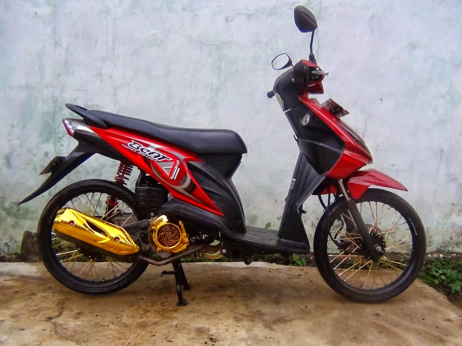 Modifikasi Beat Fi Velg Jari Jari