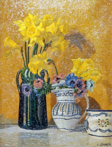 Charles Ginner - Daffodils and Anemones