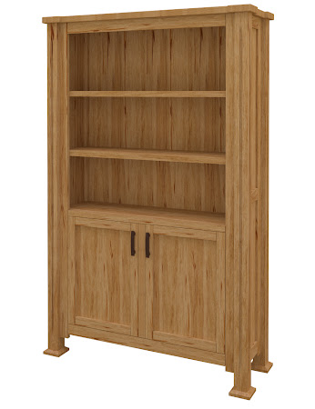 Sacramento Wooden Door Bookshelf in Classical Maple