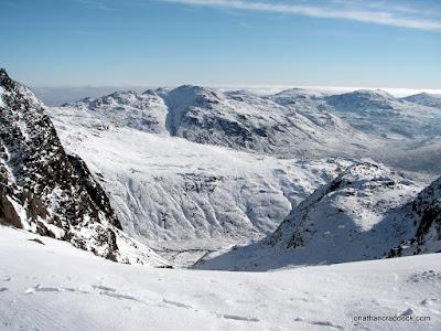 Below Broad Crag, looking towards the Crinkles.