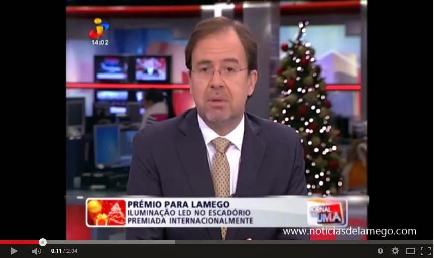 Vídeo - TVI - Jornal da Uma - Prémio mundial atribuído à nova iluminação do Santuário dos Remédios