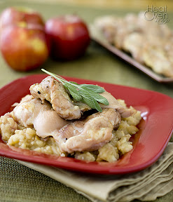chicken thighs with roasted apples