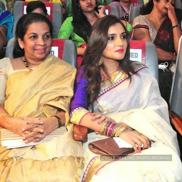 Sheila James and Manjari during Ghanashyama Sandhya in Trivandrum.