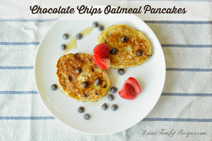 Chocolate Chips Oatmeal Pancakes