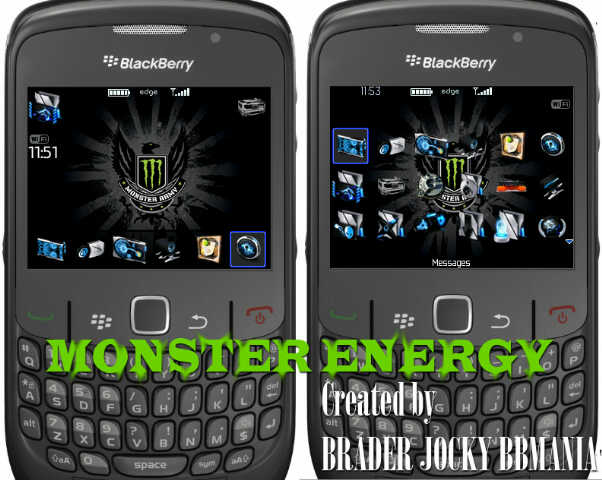 Theme Monster Energy (8520/9300 OS5)