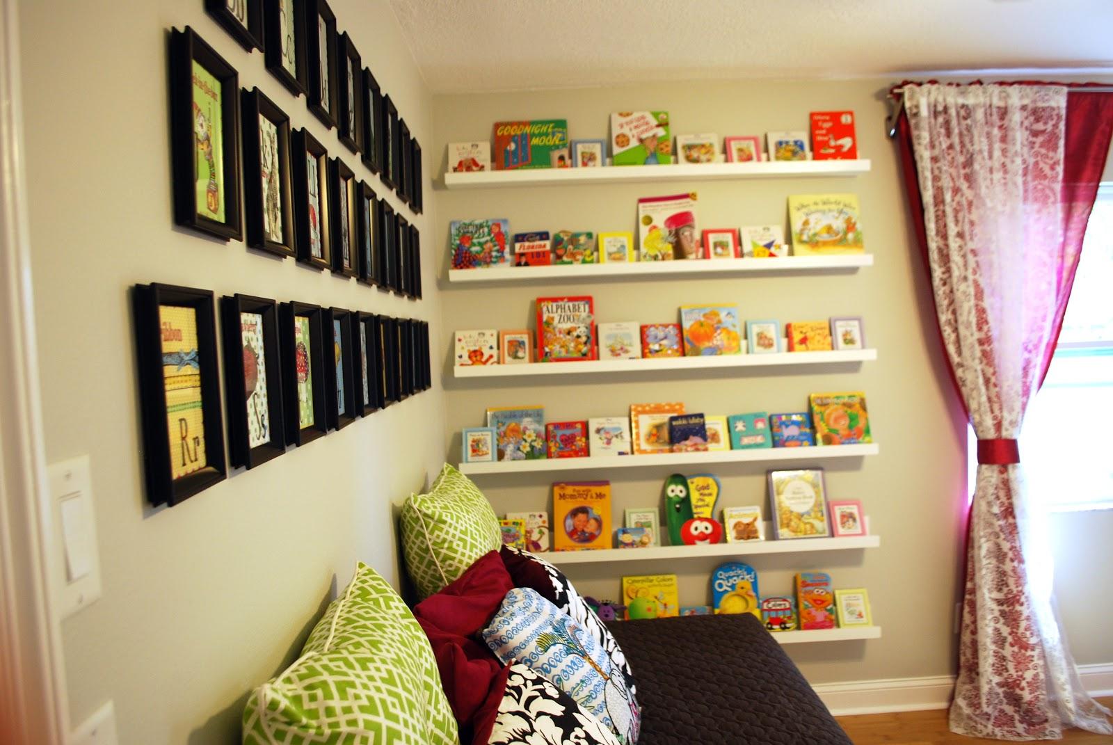 Kara\'s Korner: Nursery Room - Book Shelves Filled!
