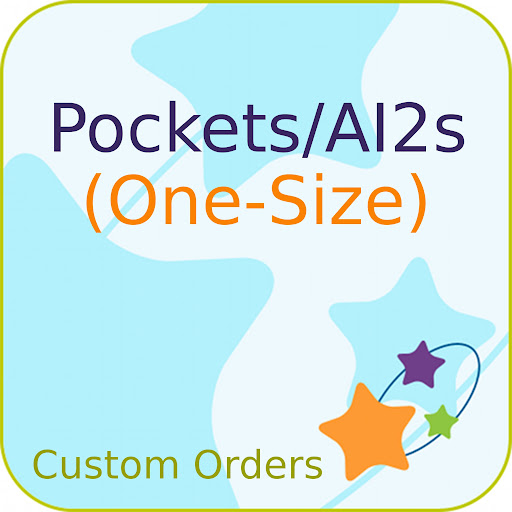 Custom Order ONE-SIZE Printed PUL Pocket Diaper
