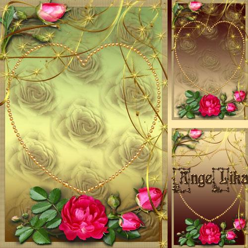 Романтическая рамка для фото - Эти розы для тебя
