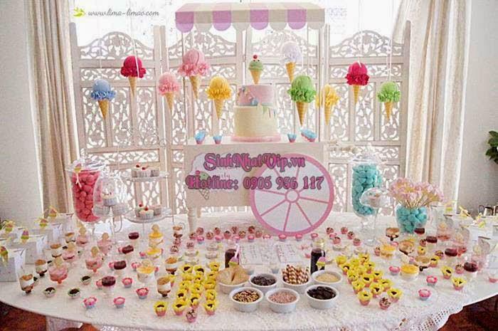 chủ đề trang trí sinh nhật bánh kem mát lạnh
