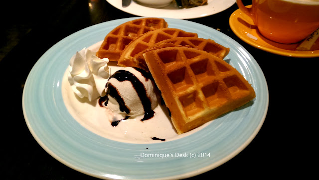 Waffle and Vanilla Ice cream