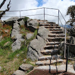 Last few stairs to the top of Main Range Lookout (96799)