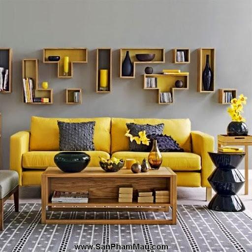 Thi công nội thất gỗ: Trang trí nhà từ đơn giản đến cá tính với gam màu vàng-1