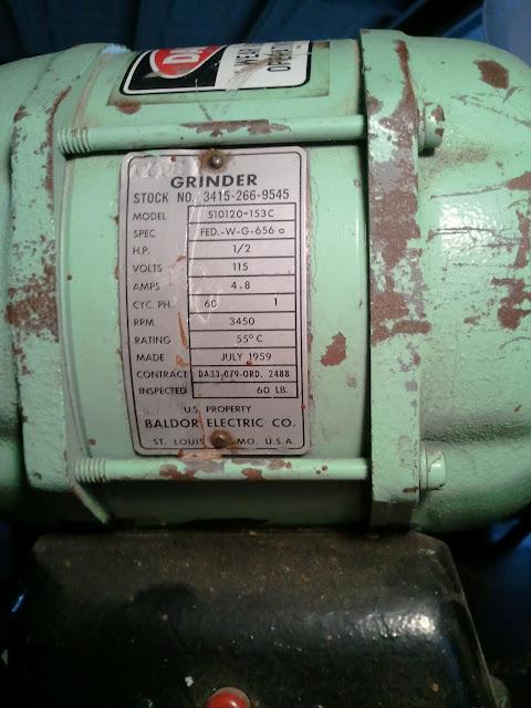 Show us Your Vintage Bench Grinders!!!! - The Garage Journal Board Baldor Grinder Wiring Diagram on