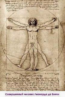 Perfect Man by Leonardo da Vinci