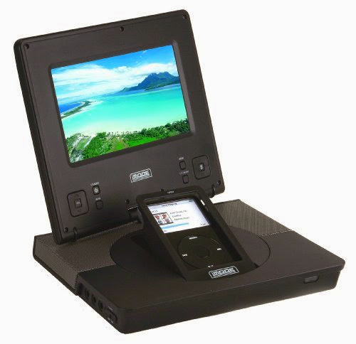 iMode 7-Inch Portable Video System with Docking Station for iPod (Black)