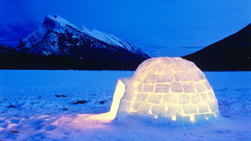 Igloo at Night, Vermillion Lakes, Banff National Park, Alberta.jpg