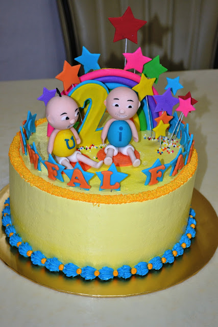 MyPu3 Cake House Upin Ipin Cake Figurine