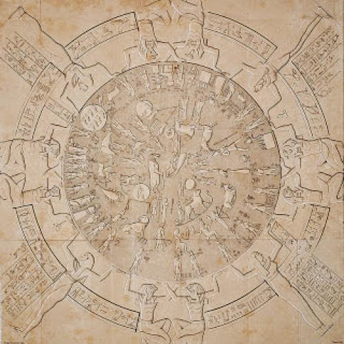 Denderah Zodiac From The Temple Of Hathor