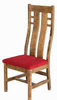 Seneca Dining Chair with Fabric Seat, in Sugar Maple