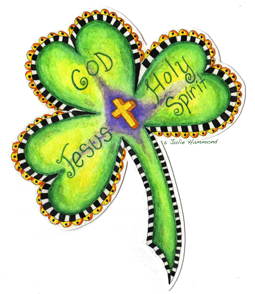 Julie Hammond Illustrations: Saint Patrick's Trinity Shamrock!