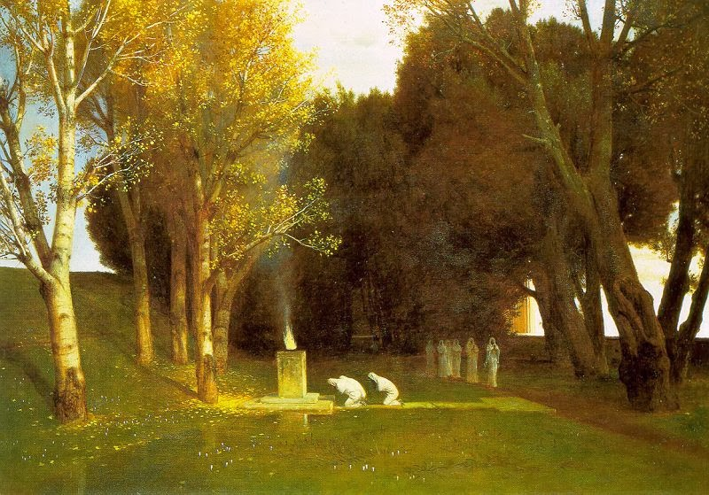 Arnold Böcklin - The Sacred Wood