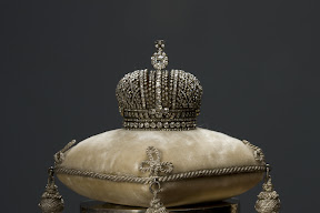 Faberge Miniature of the Imperial Coronation Regalia, St. Petersburg, C. Faberge's Company. 1900.