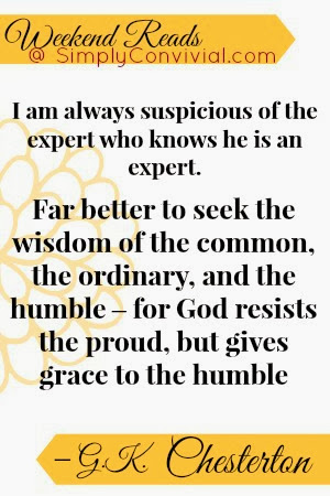 chesterton better to seek the wisdom of the ordinary