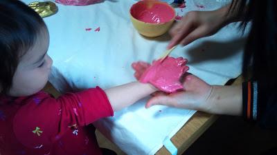 立体造形手形の手形採取