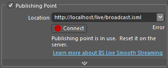 Publishing Point Error