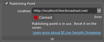 Publishing Point Error
