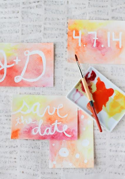 DIY Wedding Invitations Paper for Wax Colour Resist Technique