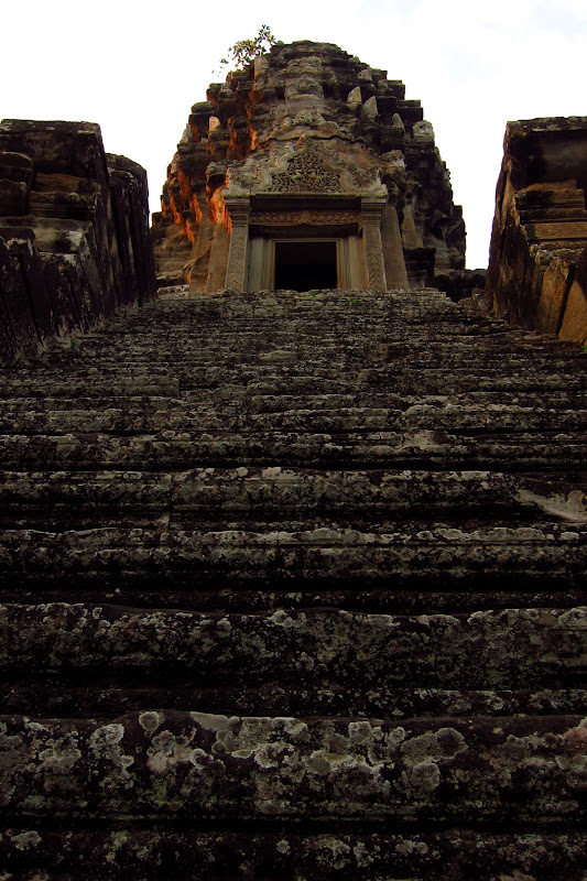 Steep steps up Angkor
