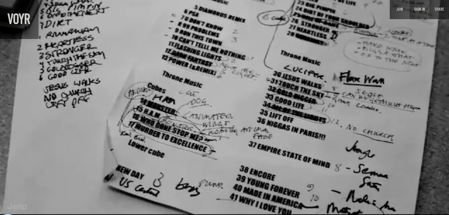 """Setlist from the Atlanta show of the """"Watch the Throne"""" tour"""