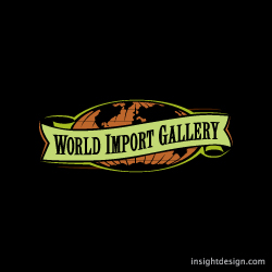 World Import Gallery logo design Wichita, KS.
