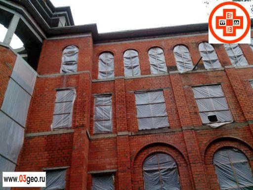 Обмерные геодезические работы — съемка фасада строящегося жилого здания на Рублево-Успенском шоссе. Картинка для построения карты фасада многоэтажного жилого здания в Рублёво