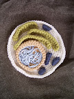 wish I had known about that, when my older son had to do a model of a cell .... and this amazing pattern is free ! http://jpolka.blogspot.com/2010/12/crocheted-eukaryotic-cell.html