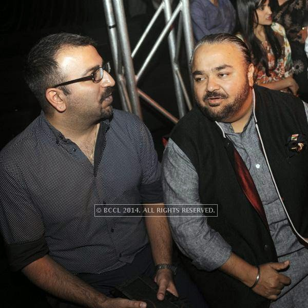 JJ Valaya (R)at fashion designer Anju Modi's show, held in New Delhi.