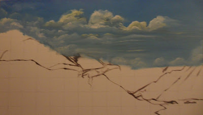 Work in Progress, Sky line. Source shows close up of Clouds number 1